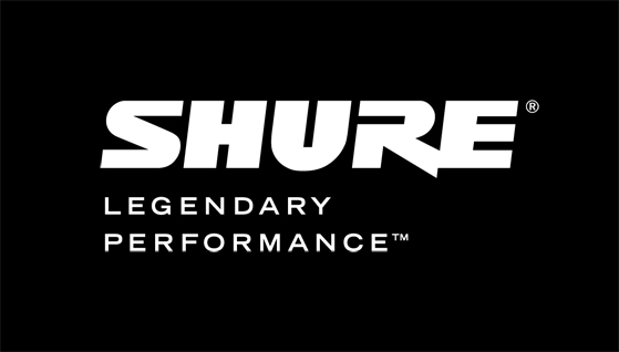 Shure Logo with Tagline_White